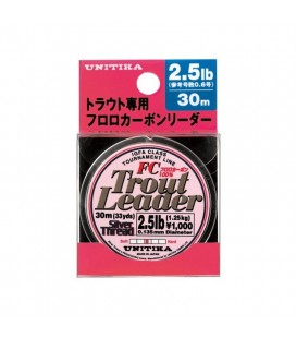 Unitika Trout Leader Silver Thread Fuorocarbon