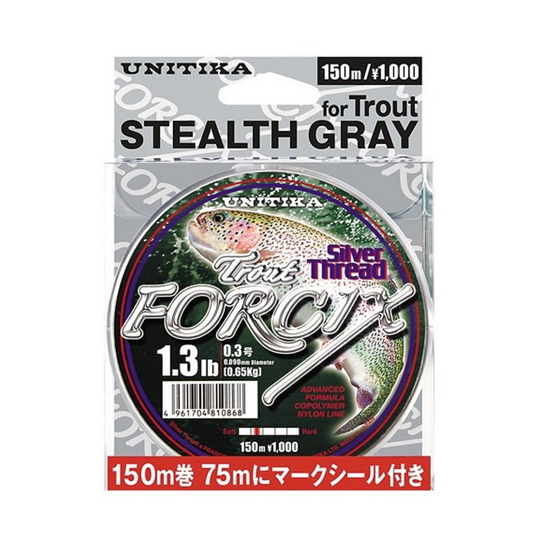 Unitika Forcix Silver Thread Trout Stealth Gray