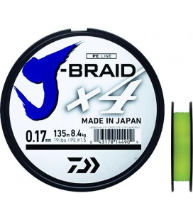 Daiwa J-Braid X4 - Yellow