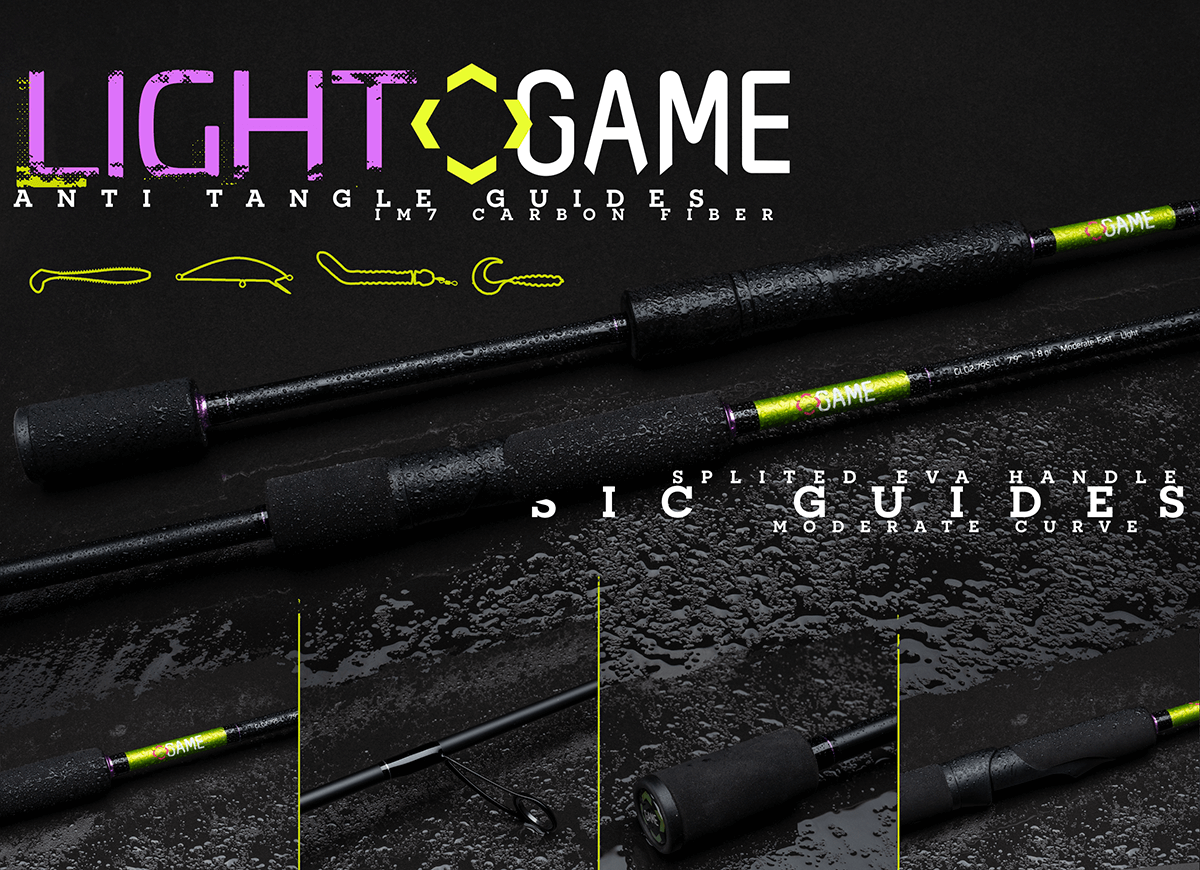 Game by Laboratorio Light Game Spinning Rods